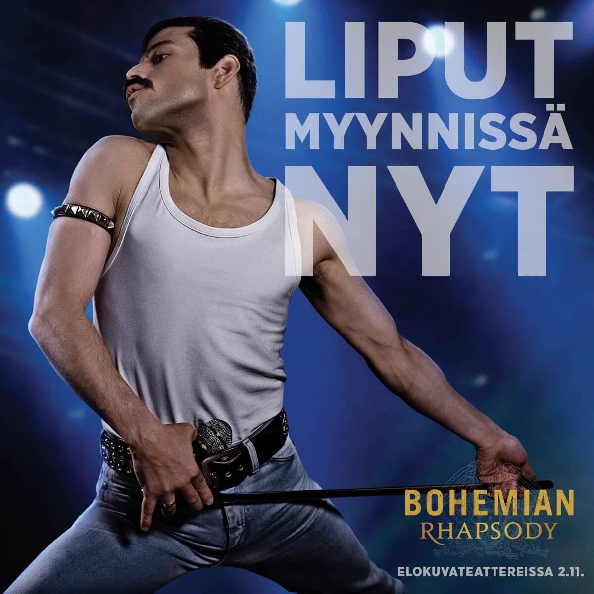 Syksyn elokuvatapaus BOHEMIAN RHAPSODY saa Suomen ensi-iltansa 2.11. – lippujen ennakkomyynti alkaa tänään