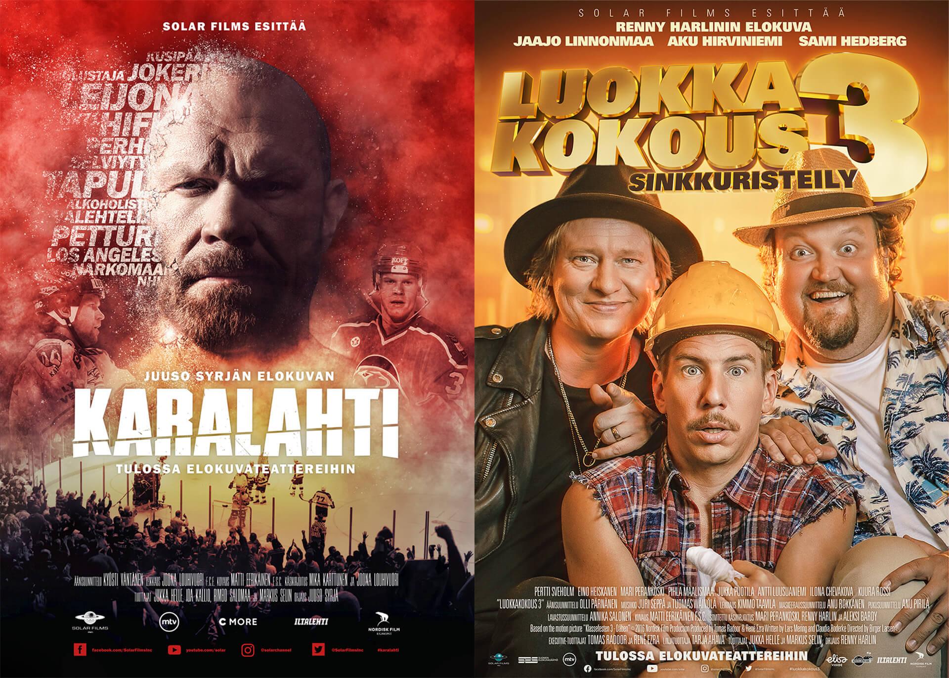 Karalahti- ja Luokkakokous 3 -elokuvien ensi-illat siirtyvät
